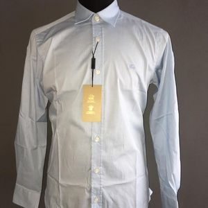 BURBERRY BRIT BLUE MEN BUTTON DOWN SHIRT